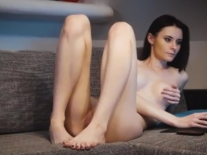 Skinny sexy sexy girl wearing her pantyhose