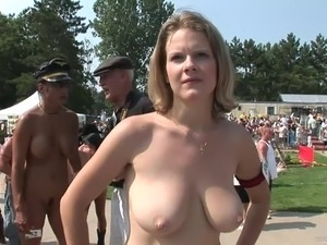 Beautiful Women Have A Naked Party Outdoors In A Reality Clip