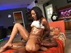 Big ass black girl sucks and fucks black cock hardcore