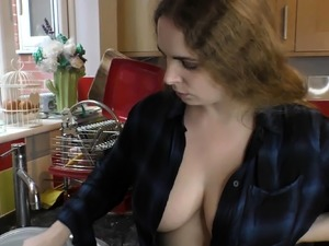 Stunning Dolly with natural tits and downblouse compilation