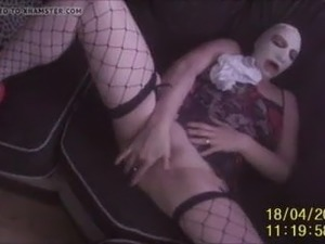SLUT WIFE stuffing panties in her fuckhole