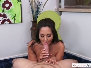 Big breasted cougar Ava Addams actually has fun riding her lover's dick