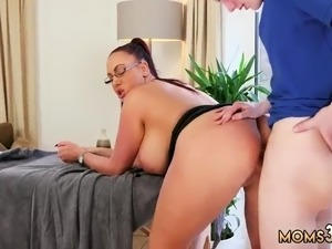 Hairy mom first time Big Tit Step-Mom Gets a Massage