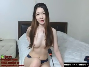 Korean bj in sexy outfit gets naked