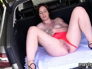 Wacky czech chick gapes her wet snatch to the extreme95XfR