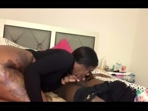 Big booty caramel nympho takes a black cock for a hot ride