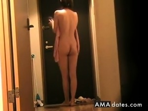 Japanese Girl Flashing Delivery Guy 6