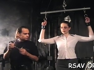 Infirm young girl gets totaly tied up and belted