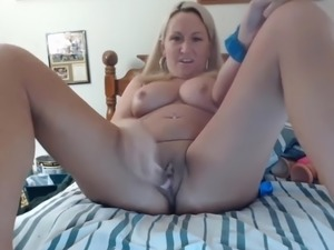 Flirting blond housewife who cheats on her husband