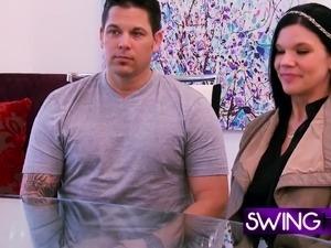 Swinger couples start carnal adventure.