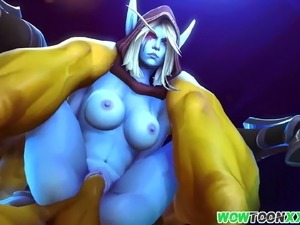 Warcraft sluts get pussy drilled deeply