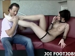 My lubed up feet will feel so good on your cock JOI