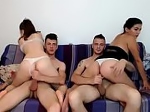 Home group for two couples porn