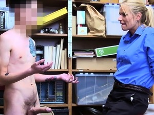 Sexy female LP officer licked and fucked by shoplifters cock