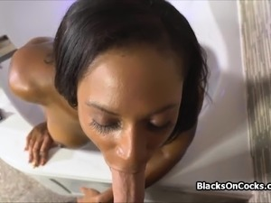 Huge titty oiled black amateur cocked hard